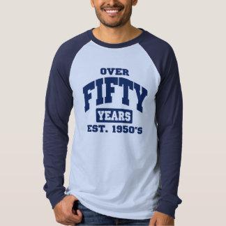 Över den 50th födelsedagen tröja
