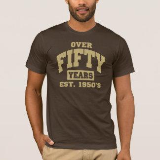 Över den 50th födelsedagen tshirts
