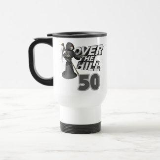 Över den 50th födelsedaggåvan för backe kaffe koppar