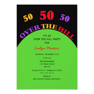 Över födelsedagsfest inbjudan för backe 50th