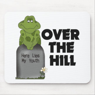 Over The Hill Tombstone Mousepads