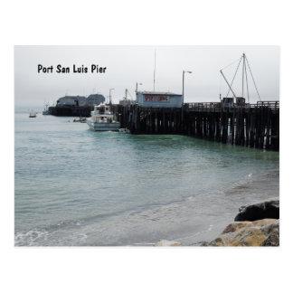 Överblick av den Harford pir, port San Luis, Avila Vykort