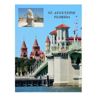 Överbrygga av lejon St Augustine, den Florida Vykort