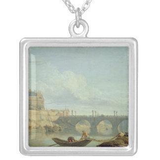 Överbrygga och slottet Sant'Angelo, 1745 Silverpläterat Halsband