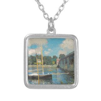 Överbrygga på Argenteuil - Claude Monet Silverpläterat Halsband