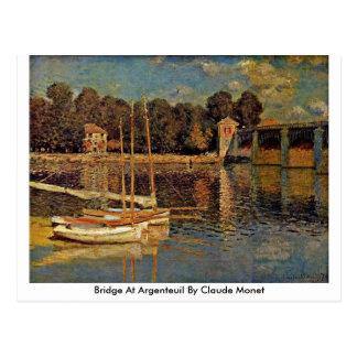 Överbrygga på Argenteuil vid Claude Monet Vykort