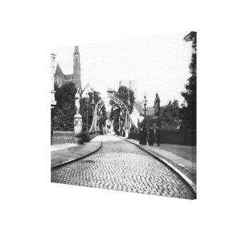 Överbrygga till domkyrkan, Breslau Polen, c.1910 Canvastryck