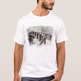 Överbryggar dolda trä för snö tee shirts