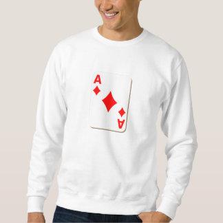 Överdängare av diamanter som leker kortet sweatshirt