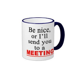 Överför dig till en sarkastisk kontors humor för ringer mugg