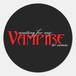 Överför mig en vampyr… runt klistermärke