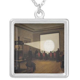 Överföringen av telegraferar silverpläterat halsband