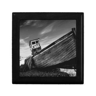 Övergett fartyg på den Dungeness stranden Minnesask