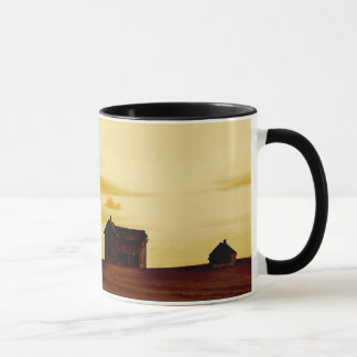 Övergiven lantgård i South Dakota kaffemugg