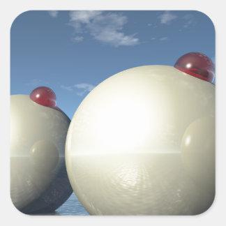 Overkliga Spheres strukturerar Fyrkantigt Klistermärke
