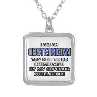 Överlägsen intelligens för Obstetricianskämt… Halsband Med Fyrkantigt Hängsmycke