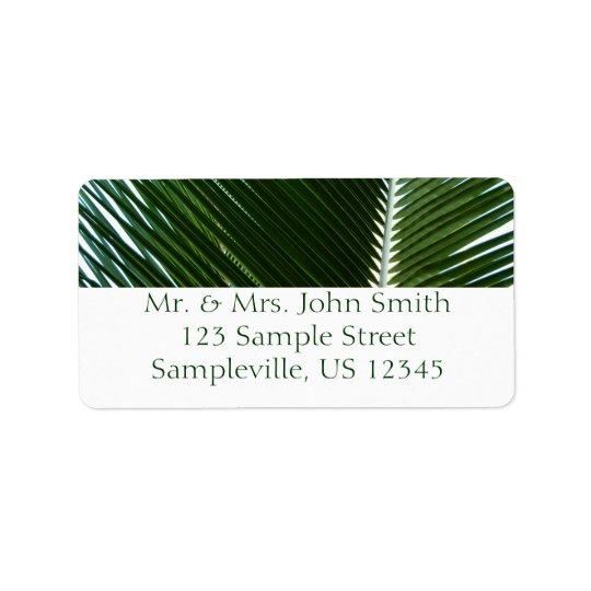 Överlappande abstrakt för grönt för adressetikett