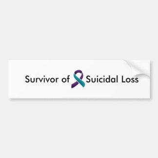 Överlevande av självmords- förlust bildekal