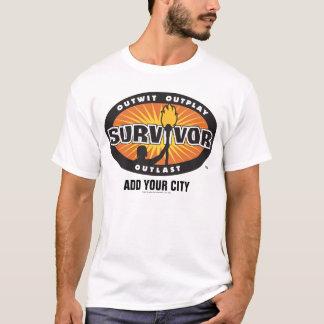 Överlevanden/tillfogar din stad t shirts