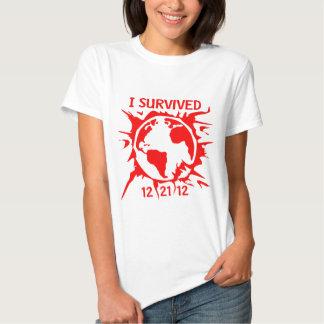 """""""Överlevde jag 12-21-12"""" avslutar av världsT-tröja T Shirt"""