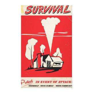 Överlevnad - atom- säkerhetsaffisch för vintage canvastryck