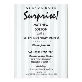 ÖVERRRAKNING! 30th eller någon födelsedagsfest 12,7 X 17,8 Cm Inbjudningskort