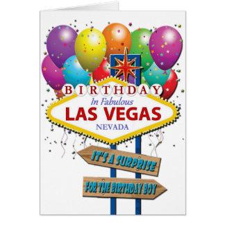 ÖverrrakningfödelsedagLas Vegas kort Hälsningskort