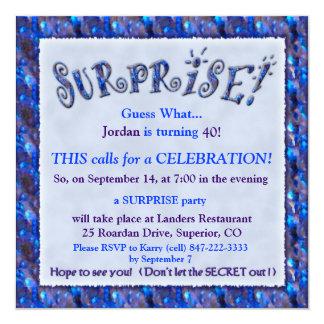 Överrrakningfödelsedagsfest inbjudan