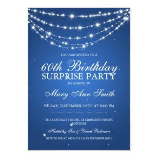 Överrrakningfödelsedagsfesten som Sparkling, 12,7 X 17,8 Cm Inbjudningskort