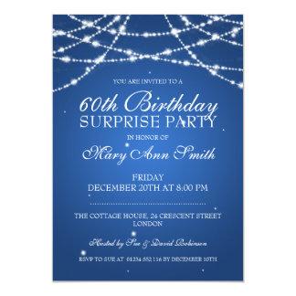Överrrakningfödelsedagsfesten stränger av 12,7 x 17,8 cm inbjudningskort