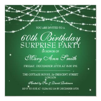 Överrrakningfödelsedagsfesten stränger av fyrkantigt 13,3 cm inbjudningskort
