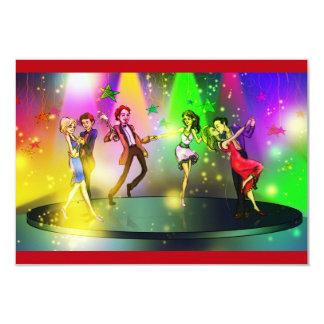 Överrrakningförlovningsfestinbjudan (dansen) #2 8,9 x 12,7 cm inbjudningskort