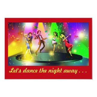 Överrrakningförlovningsfestinbjudan (dansen) #3b 8,9 x 12,7 cm inbjudningskort