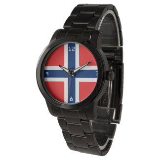 Oversized svart armband för norsk marin armbandsur