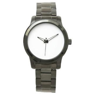 Oversized unisex- svart armbandklocka armbandsur