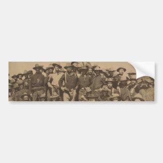 Överste Roosevelt och hans grova ryttare Bildekal