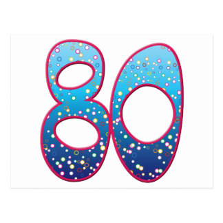 Översvallande beröm för 80 ålder vykort