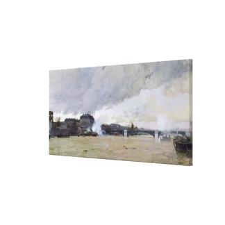 Översvämma av Seinen, c.1903 Canvastryck