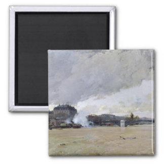 Översvämma av Seinen, c.1903 Magnet