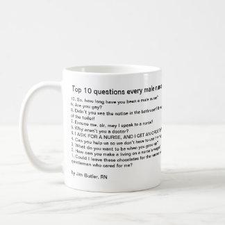Överträffa 10 ifrågasätter varje male kaffemugg
