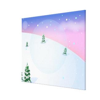 Överträffa av backen - snöig backe canvastryck