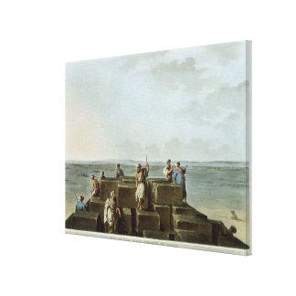Överträffa av den första pyramiden av Gizah, pläte Canvastryck