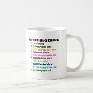 Överträffa tio simmareursäkter kaffemugg