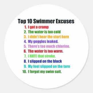 Överträffa tio simmareursäkter runt klistermärke