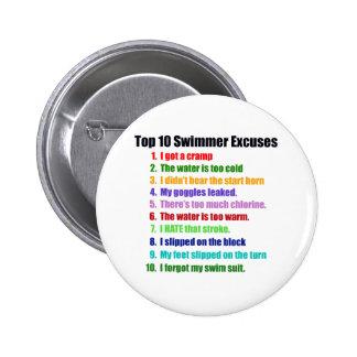 Överträffa tio simmareursäkter standard knapp rund 5.7 cm