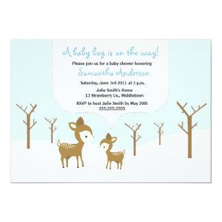 Övervintra hjort och lisma baby showerinbjudan - 12,7 x 17,8 cm inbjudningskort