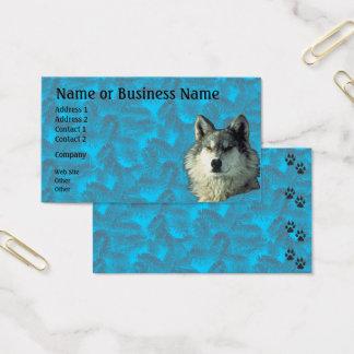Övervintra vargen med Spruce affär eller profilera Visitkort