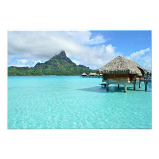 Overwater semesterort på Bora Bora fototryck Fototryck