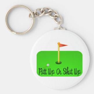 Övre eller stängd upp Golf för Putt Rund Nyckelring