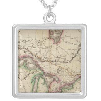 Övre & lägre Kanada Silverpläterat Halsband